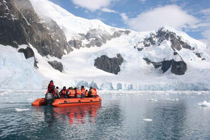 Zodiacs in Antarctica