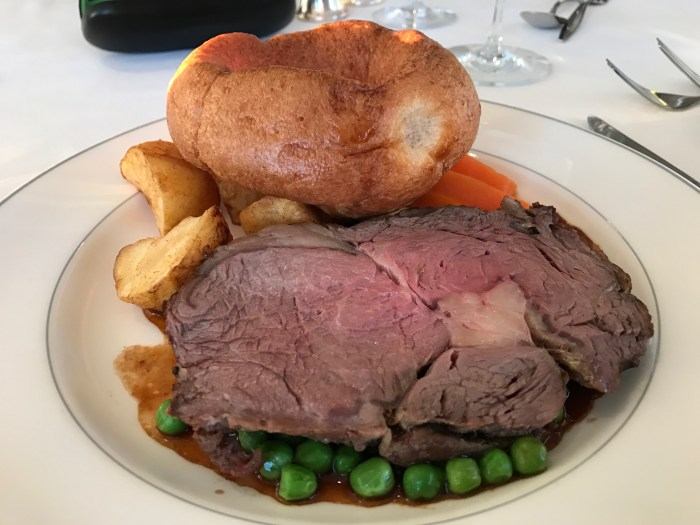 Traditional British Food served on Fred Olsen