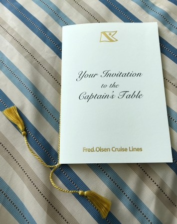 Fred Olsen Captain's Table Invitation