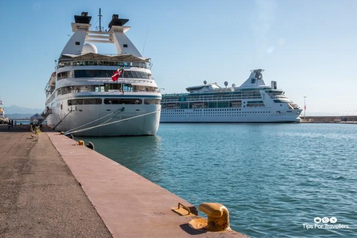Windstar Star Breeze in Katakolon Greece