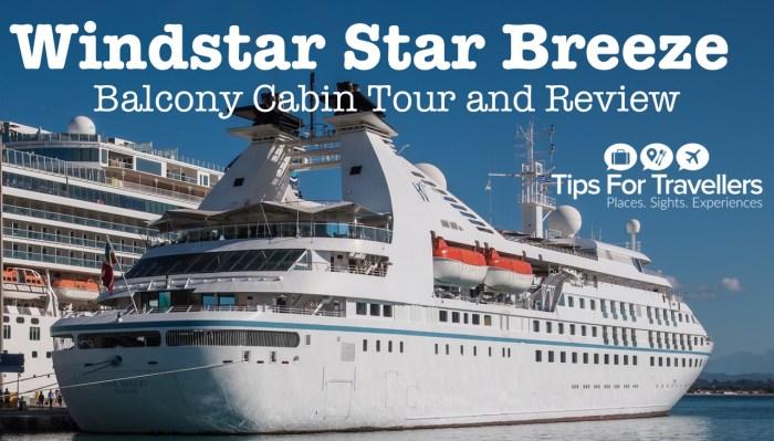 Windstar Star Breeze balcony cabin video tour