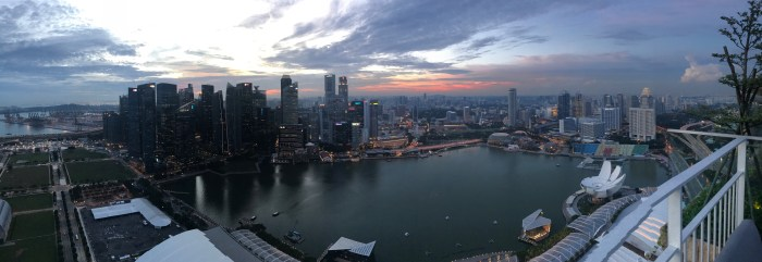 Singapore from Marina Bay Sands