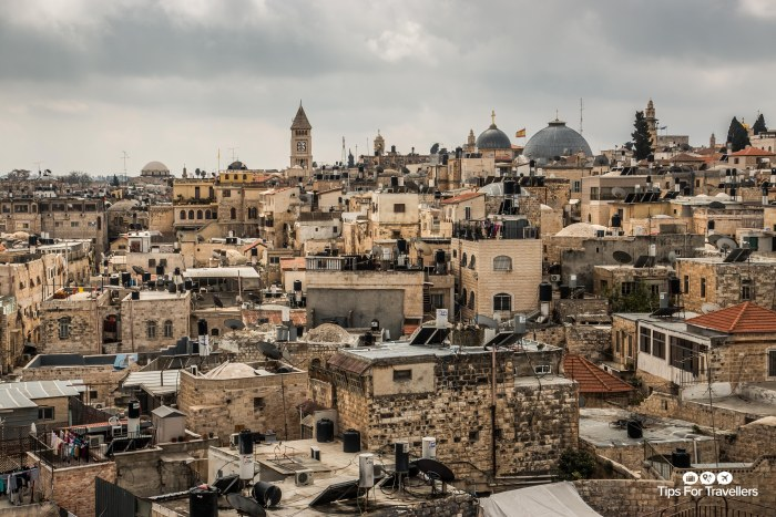 Old City Jerusalem across to Christian Quarter from Ramparts