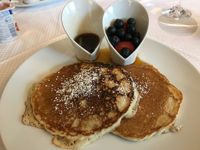 Breakfast pancakes on Windstar Cruises
