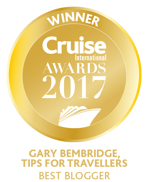Best Cruise Blogger of the year. Gary Bembridge Tips For Travellers https://www.tipsfortravellers.com