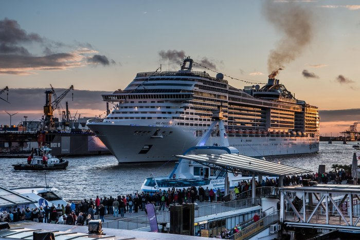 MSC Cruises MSC Preziosa in Hamburg for Hamburg Cruise Days. For more: https://www.tipsfortravellers.com/hamburg