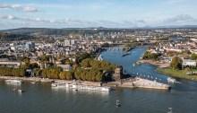 Koblenz from Ehrenbreitstein Fortress