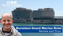 Eurostars Grand Marina Hotel Barcelona Video Tour and Review
