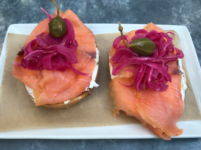 Smoked Salmon breakfast at Oxford Exchange Tampa