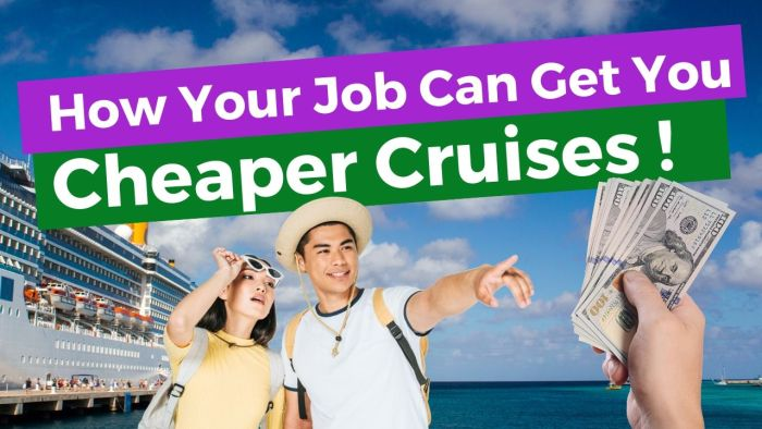 Job-Related Cruise Discounts