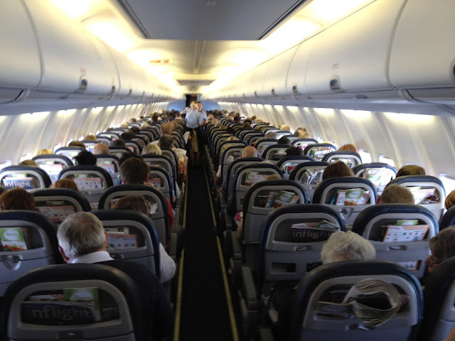 Fly Thomson Airlines Cabin London Stansted Airport to Kefalonia Travel Airplane Photo