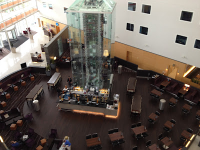 Radisson Blu London Stansted Airport - Bar with Wine Bottle Tower