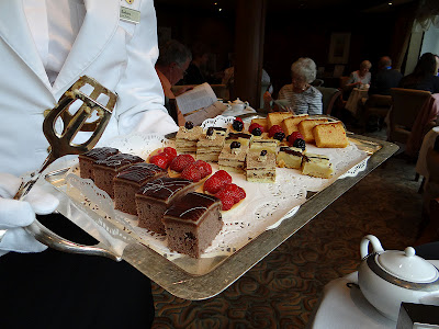 Cakes at Afternoon Tea in Queens Grill Lounge on Cunard's Queen Elizabeth