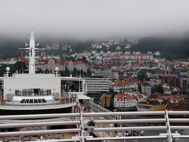 Cunard Queen Elizabeth Docked in Bergen Norway