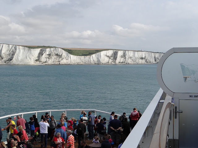 white cliffs of dover from P&O Ferry Spirit of Britain