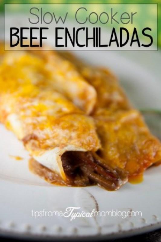 Crock Pot Beef Enchiladas recipe for Cinco de Mayo.