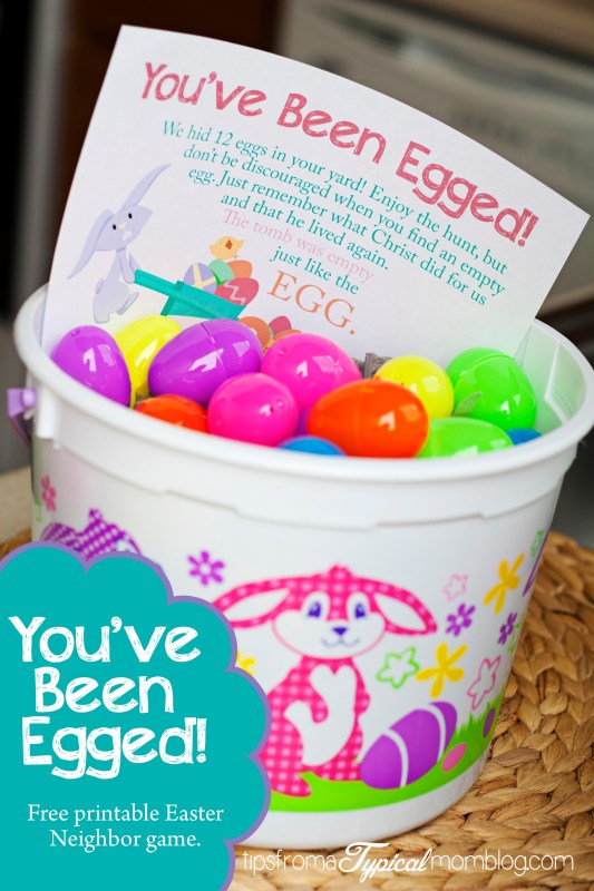 You've Been Egged Free Printable Easter Neighbor Game