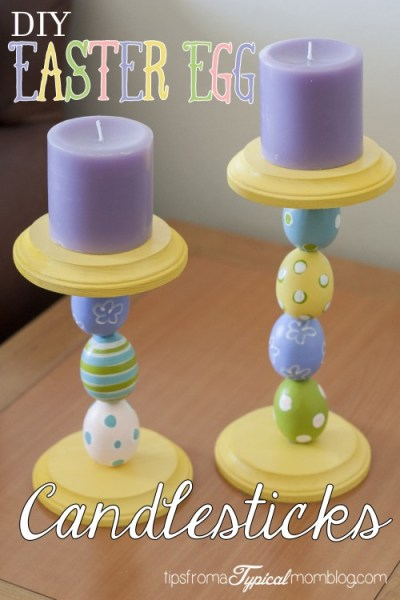 DIY Easter Egg Candlesticks