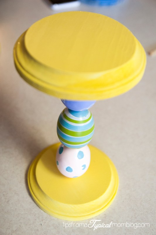 DIY Easter Egg CandleSticks from Tips From a Typical Mom