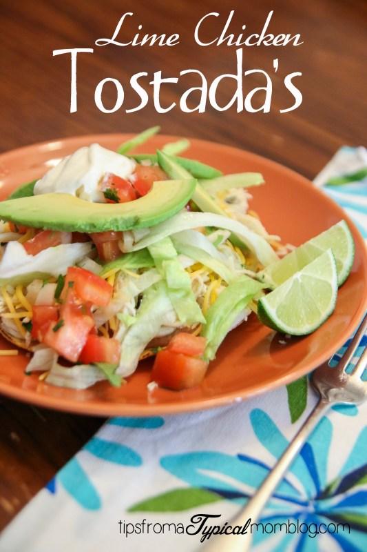 Lime Chicken Tostada's for Cinco De Mayo