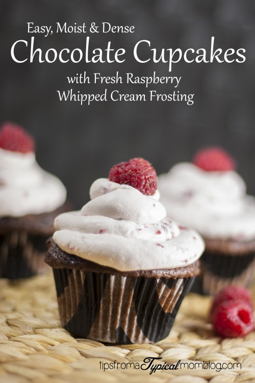 Moist Chocolate Cupcakes With Fresh Raspberry Whipped