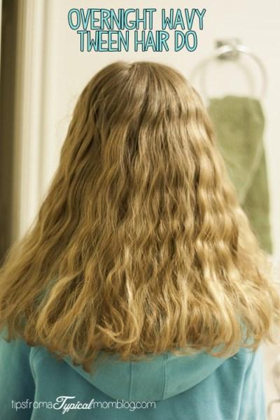 Overnight Wavy Tween Hair Do