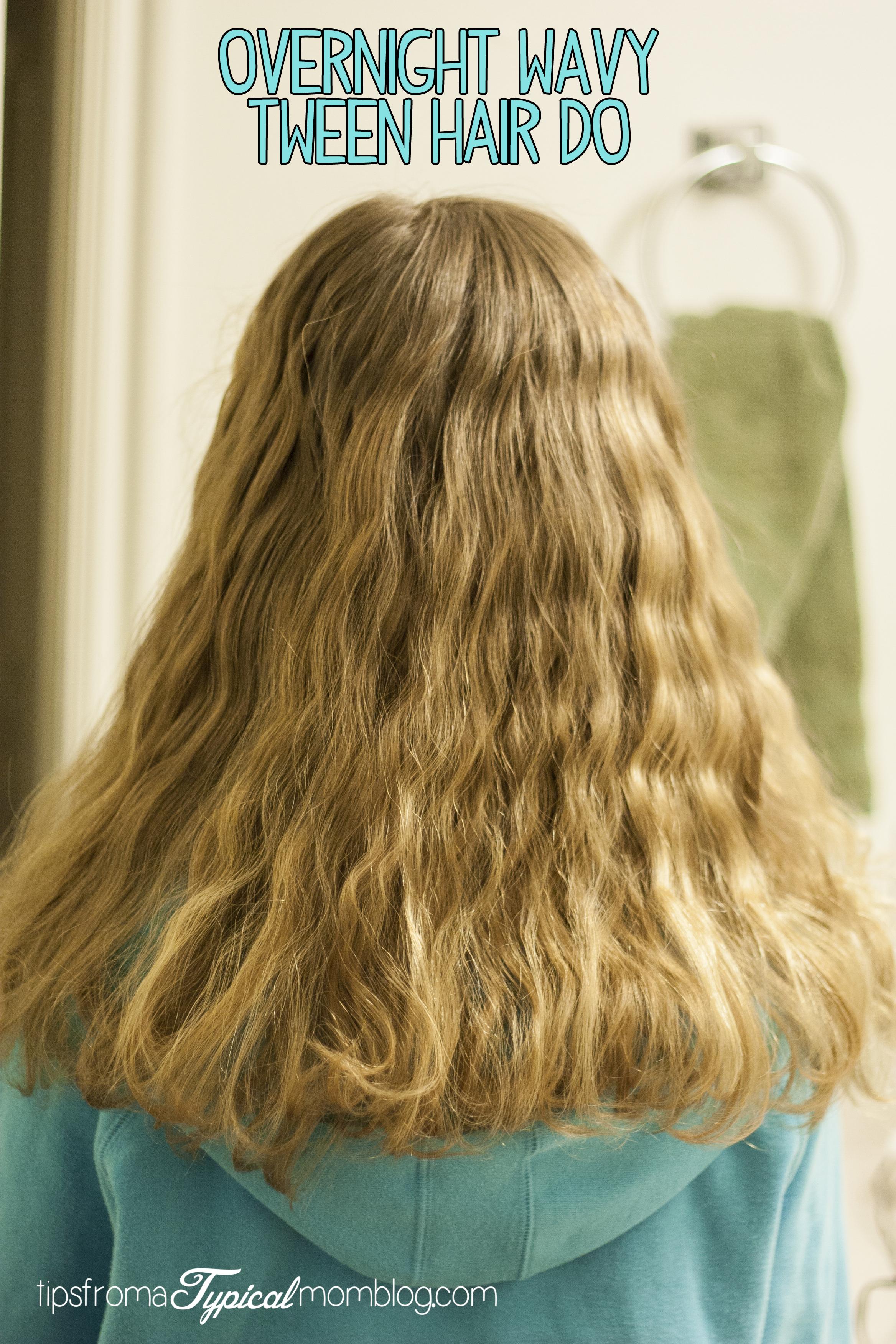 how to create wavy hair overnight