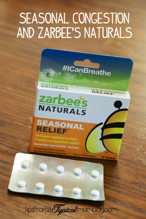 Relieving Seasonal Congestion- Zarbee's Naturals Review