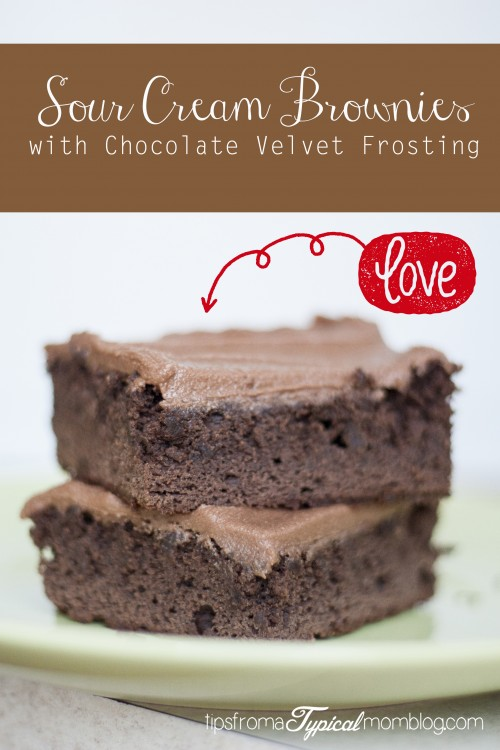 Sour Cream Brownies with Chocolate Velvet Frosting