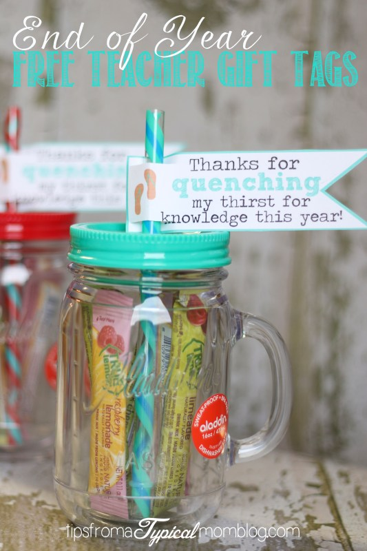 End of Year Free Teacher Gift Tags