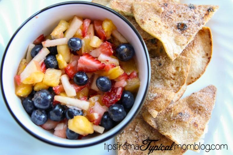 Summer Fresh Fruit Salsa and Homemade Cinnamon Chips