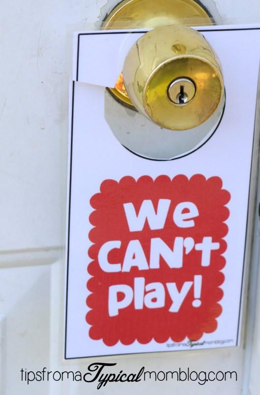 We can can't play door hangers.