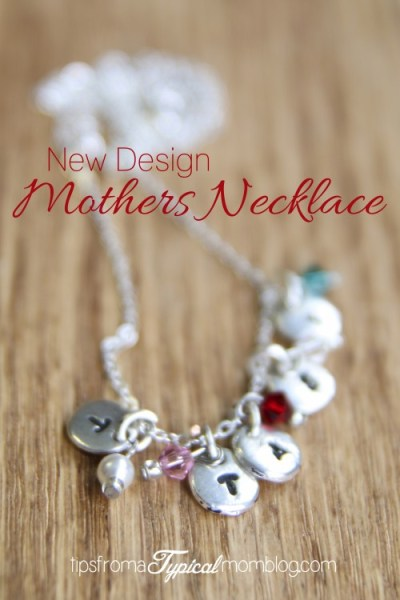 Stamped Mothers Necklace with Birthstones