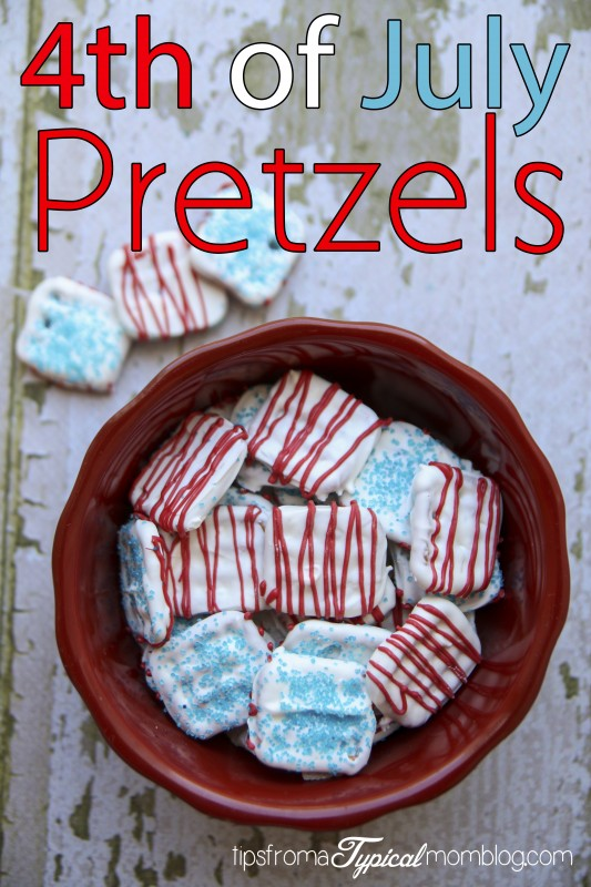 4th of July Pretzels tutorial