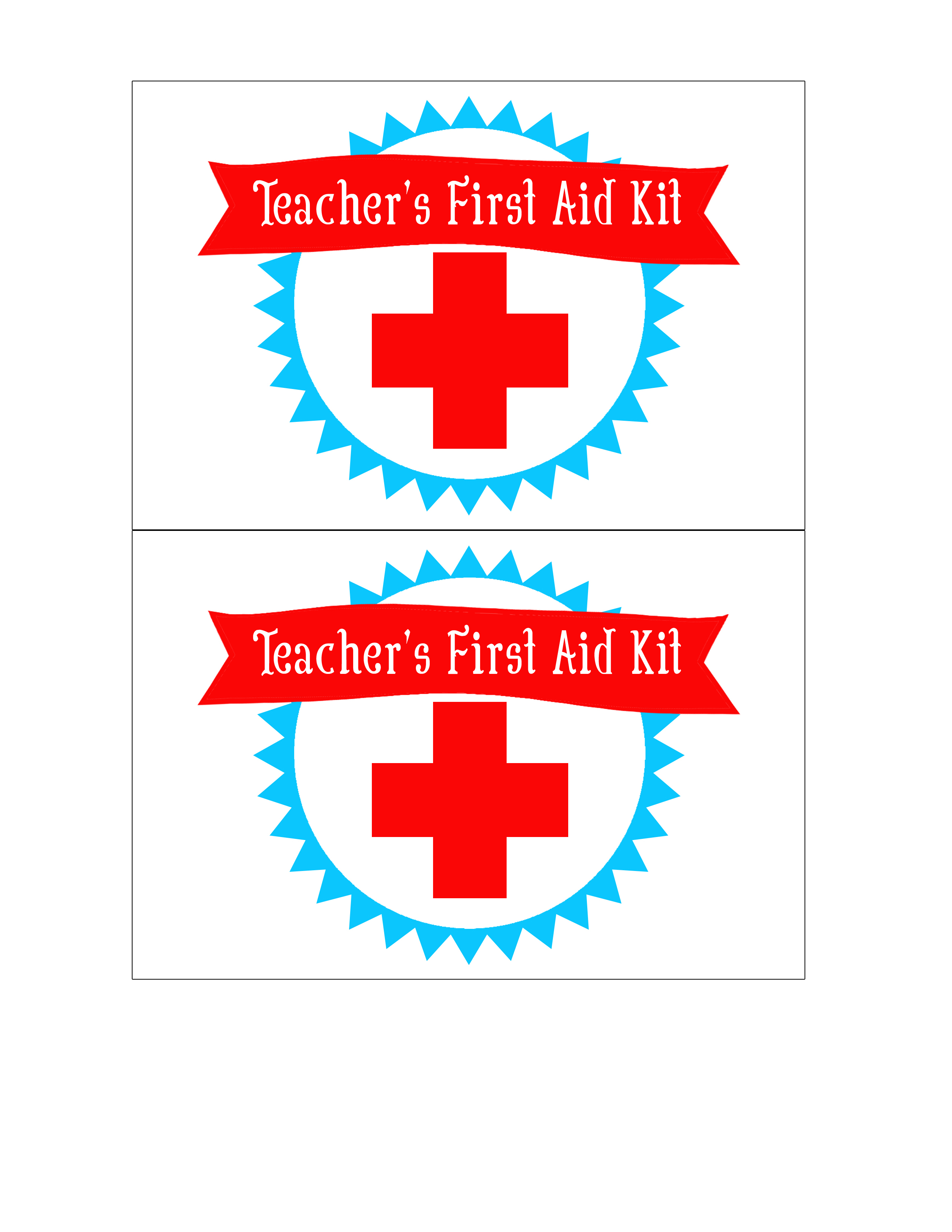 photo about First Aid Printable titled Again towards College or university Lecturers Initial Help Package No cost Printable