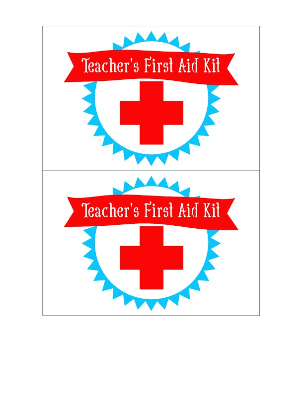Teachers First Aid Kit Printable