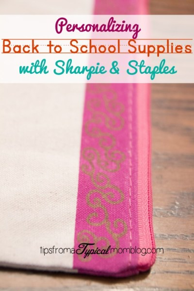 Personalize School Supplies with Sharpie and Staples