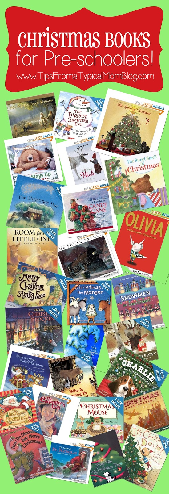 Preschool Christmas Book List - Tips from a Typical Mom