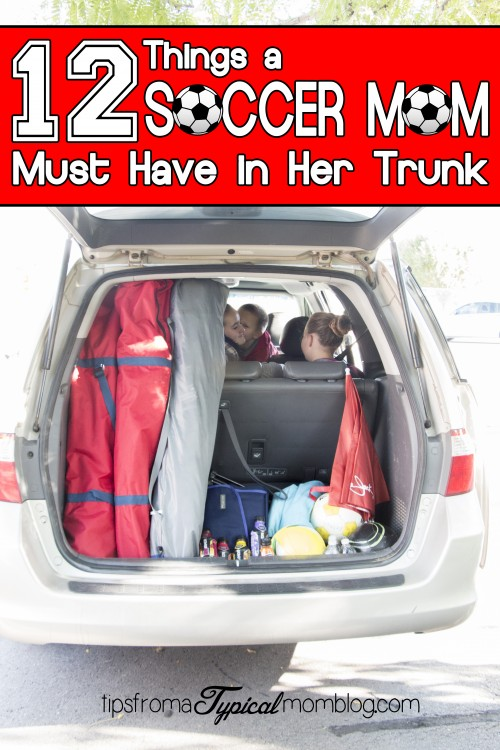 12 Things a Soccer Mom Must Have in Her Trunk
