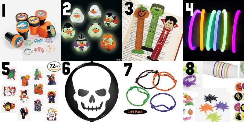 20 Non Candy Halloween Pass Out Treats collage 1-8
