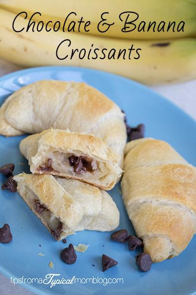 Easy Chocolate Banana Croissant Rolls