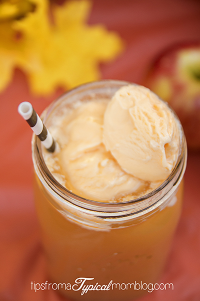 Apple Pie a la Mode Float and Sunkist TEN Soda Cupcakes