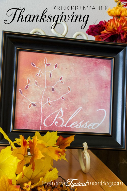 """""""Blessed"""" Thanksgiving Free Printable"""