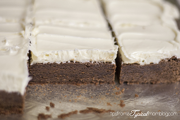 Semi Homemade Dark Chocolate Brownies with Sour Cream Frosting