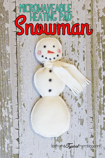 Homemade Microwaveable Snowman Heating Pad