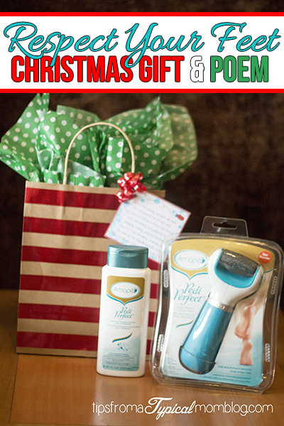 Respect Your Feet Christmas at Home Pedicure Gift Idea & Poem