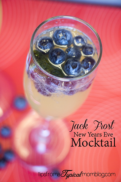 Jack Frost New Years Eve Mocktail- Non- Alcoholic Cocktail