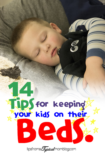 14 Tips For Keeping Your Kids on their Beds