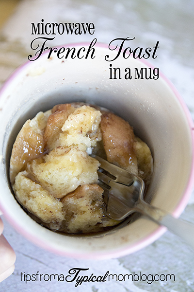 Microwave French Toast in a Mug