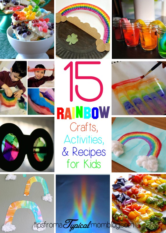15 Rainbow Crafts Activities and Recipes for kids